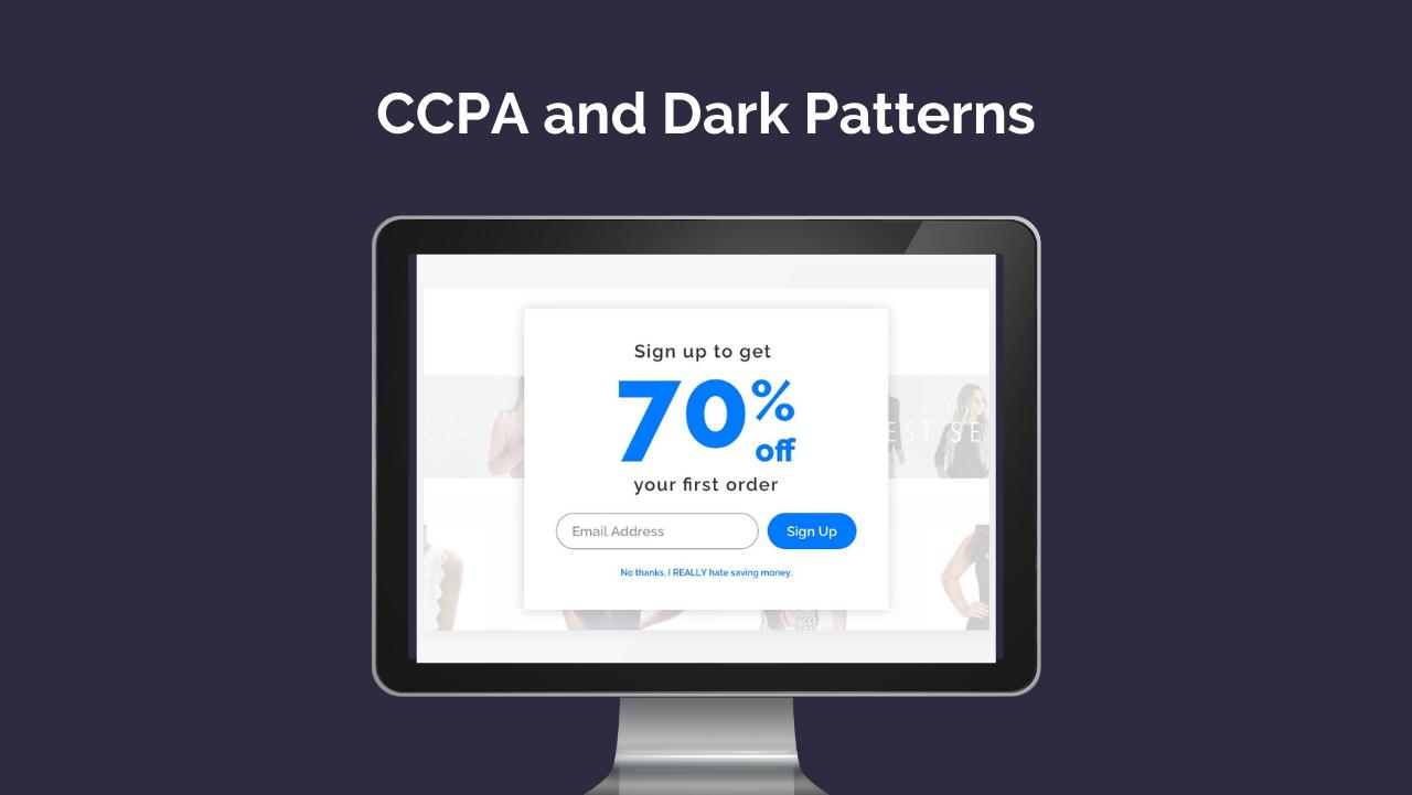 CCPA and Dark Patterns: Optimization or Manipulation?