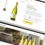 Collage showing the new Sonoma Cutrer ecommerce website.