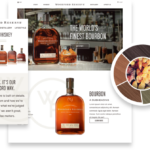 Screenshot of the Woodford Reserve website. The header says