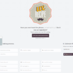UX recipe home page