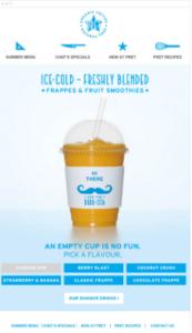 Organic Coffee advertisement