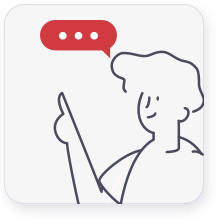 graphic of woman pointing and a thought bubble above her head