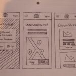 hand-drawn graphic of web interface