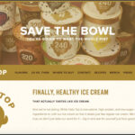 Halo Top home page with the hero text