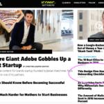 Inc Homepage with a Fresh Tilled Soil article highlighted under the