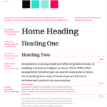 A sample of Fresh Tilled Soil's UI kit containing text sizes, line spacing, and color palette